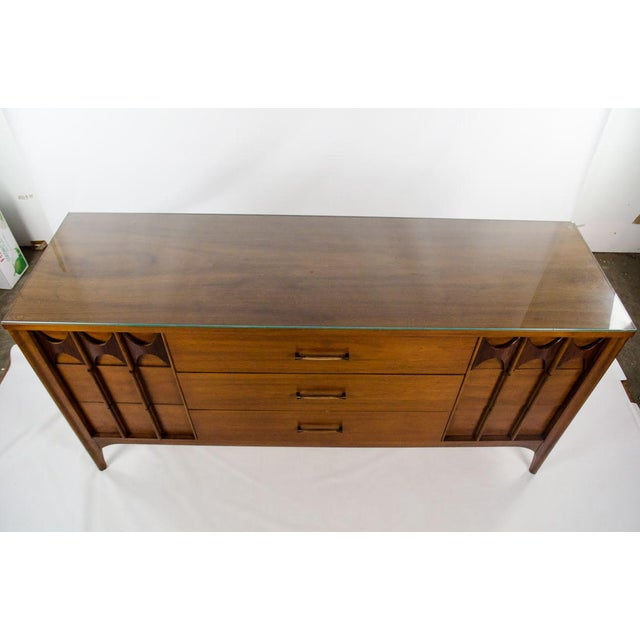 Mid-Century Modern Kent Coffey Perspecta Walnut and Rosewood Credenza For Sale - Image 3 of 13
