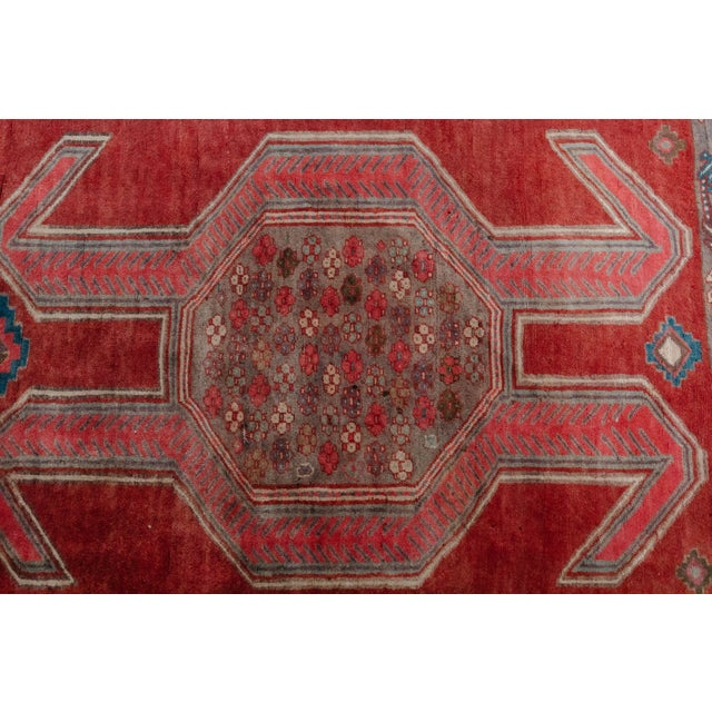 """Textile 1940s Vintage Nomadic Persian Rug-4'8'x9'7"""" For Sale - Image 7 of 13"""