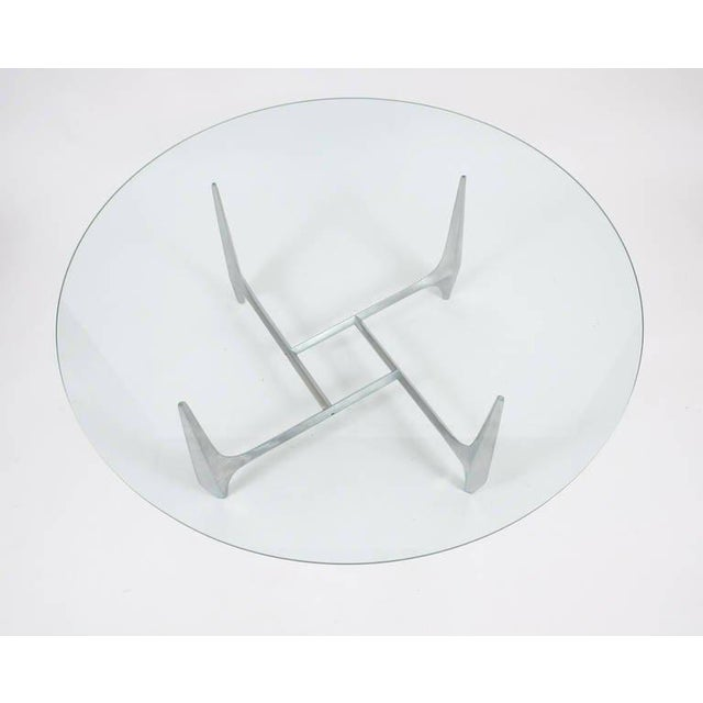 Mid-Century Modern Large Sculptural Aluminium Coffee Table by Knut Hesterberg For Sale - Image 3 of 6