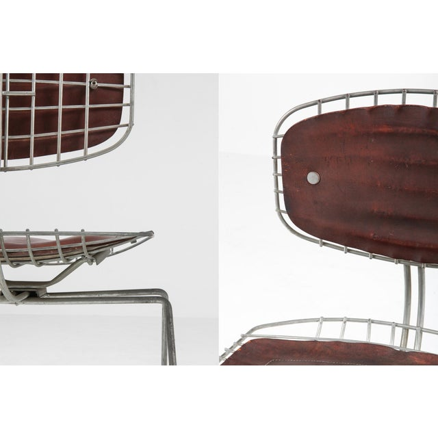 Metal Centre Pompidou Beauburg Chairs Selected by Jean Prouvé For Sale - Image 7 of 12