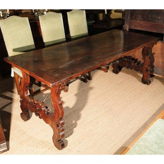 18th Century Italian Walnut and Iron Trestle Table Preview