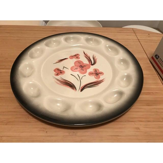 Americana Brock Pottery of California Deviled Egg Platter For Sale - Image 3 of 7