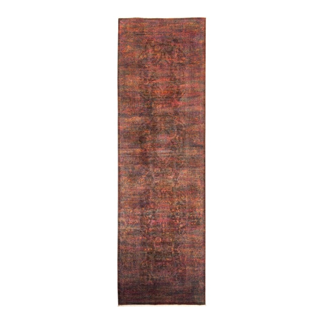"""Vibrance Hand Knotted Runner Rug - 3' 2"""" X 10' 8"""" - Image 1 of 4"""