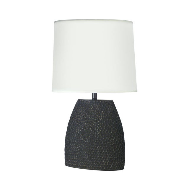 Jonathan Charles Dimpled Lamp in Dark Gray - Image 1 of 2
