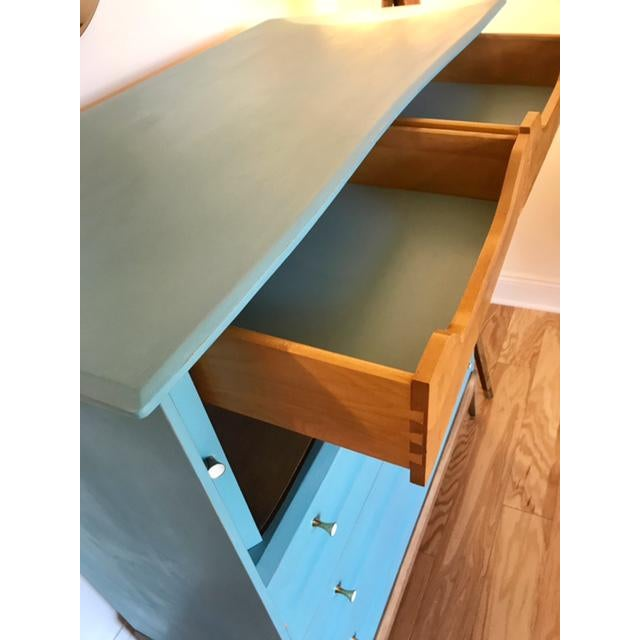 Mid-Century Tallboy Dresser For Sale - Image 4 of 7