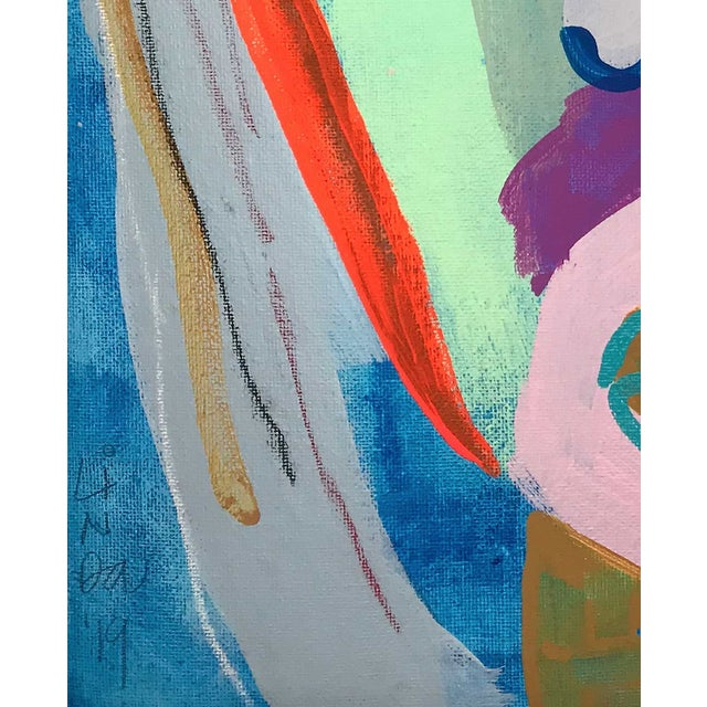This abstract portrait is by contemporary artist Linda Ward of Detroit. This portrait is #442 out of a series of 500...