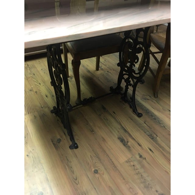 20th Century French Marble & Cast Iron Bistro Table For Sale - Image 11 of 12
