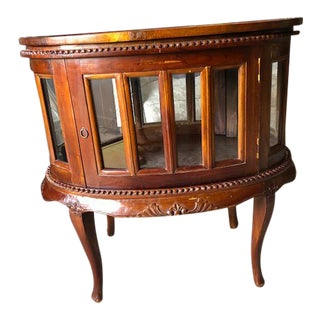 21st Century Asian Indonesian Oval Teak Butler Side Table