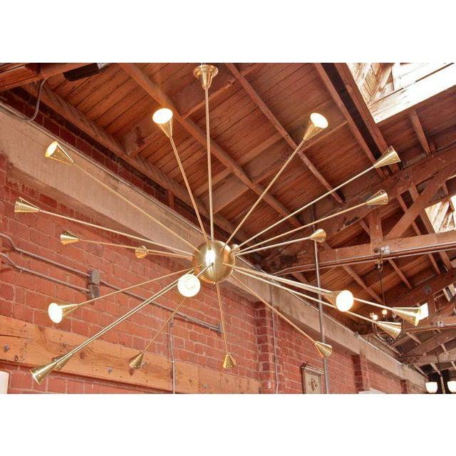 Brass Sputnik Chandelier with Twenty Arms For Sale - Image 4 of 9