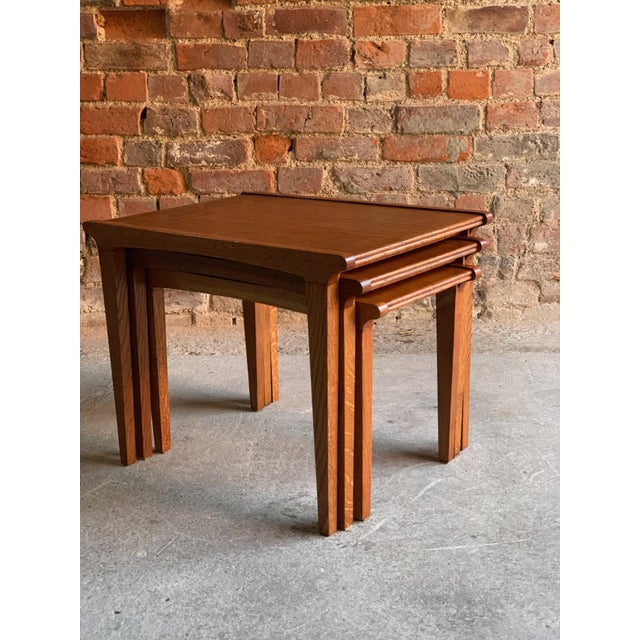 Midcentury Gordon Russell Nest of Tables Set of Three Oak, 1950s - Set of 3 For Sale - Image 9 of 13