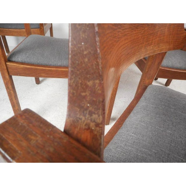Set of Five Mid-Century Modern Walnut Dining Chairs by Gunlocke Chair Company For Sale - Image 11 of 11