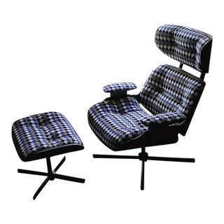 Plycraft Eames Replica Chair and Ottoman For Sale