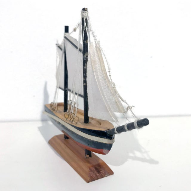 Nautical Wooden Model Sailing Ship - Image 5 of 11