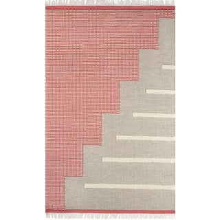 Novogratz by Momeni Karl Jules in Pink Rug - 2'X8' Runner For Sale