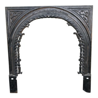 Vintage Cast Iron Fireplace Surround For Sale