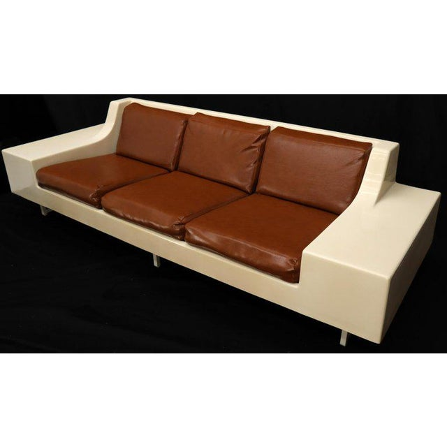 Mid-Century Modern 3-Seat Fiberglass Sofa With End Tables For Sale - Image 13 of 13