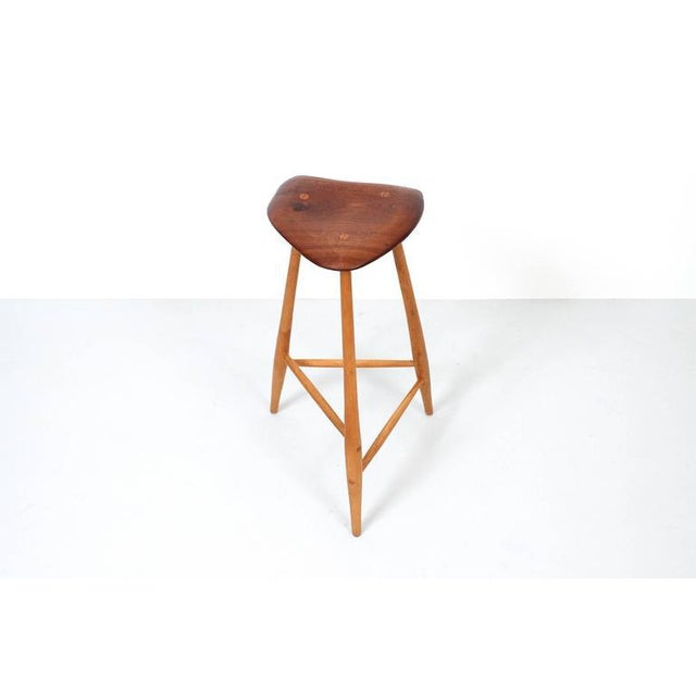1980s Barstool by Horace B. Hartshaw For Sale - Image 4 of 12