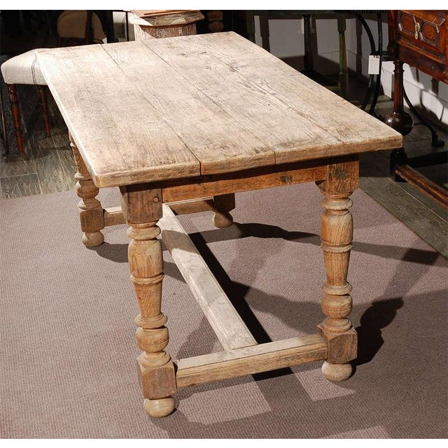 Oak Late 19th Century Oak Desk or Writing Table From France For Sale - Image 7 of 8