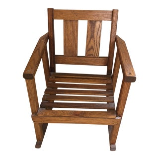 20th Century Mission Style Child's Rocking Chair For Sale