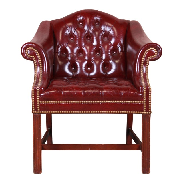 Hancock & Moore Chesterfield Tufted Leather Club Chair For Sale