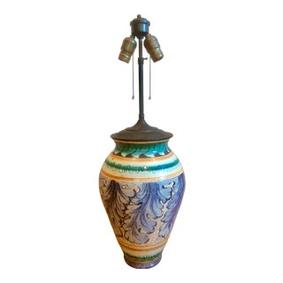 Mid 20th Century Hand-Painted Italian Style Table Lamp For Sale