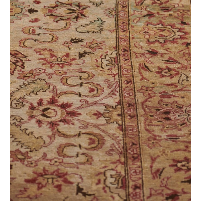Handwoven Revival Agra Style Wool Rug For Sale - Image 11 of 13