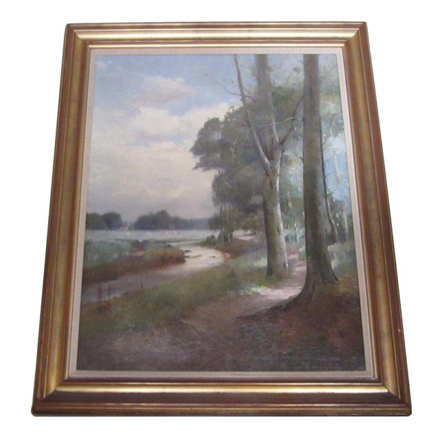 Landscape Oil Painting by Thomas Bunting - Image 1 of 8