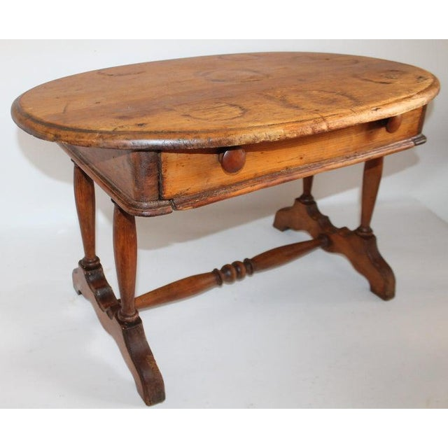 19th century old surface small scale coffee table or side table. The surface is very nice with a mellow patina. This has...