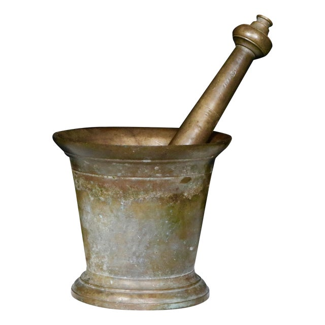 Antique Bronze Mortar and Pestle - Image 1 of 4