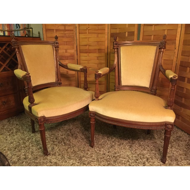 Louis XVI Style Armchairs - A Pair - Image 2 of 10