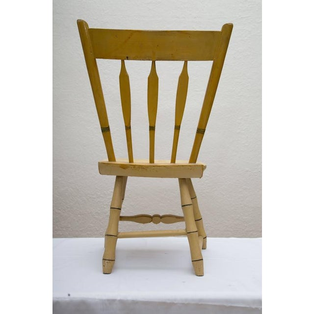 Early 20th Century 19th Century Carved and Stenciled Childs Chair For Sale - Image 5 of 9