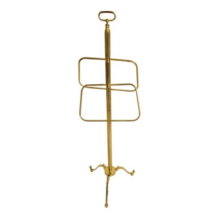 1970s Italian Polished Brass Valet Stand For Sale