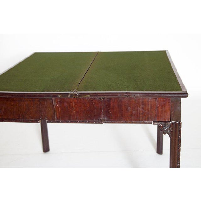 18th Century George III Mahogany Concertina Action Card Table For Sale - Image 12 of 13