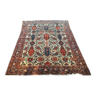 Early 20th Century Antique Collectible Persian Mishin/Mishan Malayer Area Rug - 4′4″ × 6′8″ For Sale