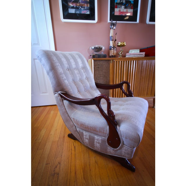 Admirable Antique 1930S Swan Arm Gooseneck Rocking Chair Pdpeps Interior Chair Design Pdpepsorg