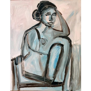 "Anne Darby Parker ""Moody"" Contemporary Figure Painting For Sale"