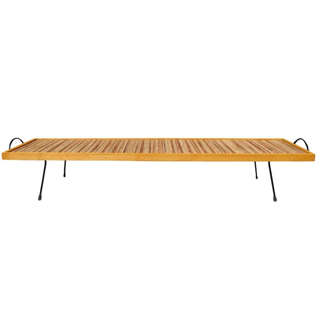 Think outside the box. This unique table/tray/bench is a collector's item, designed by Estelle & Erwine Laverne for...
