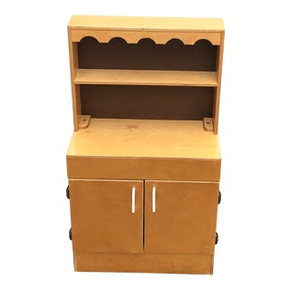 Vintage Wooden Child's Cabinet For Sale