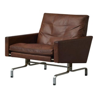 Poul Kjaerholm Leather Chair For Sale