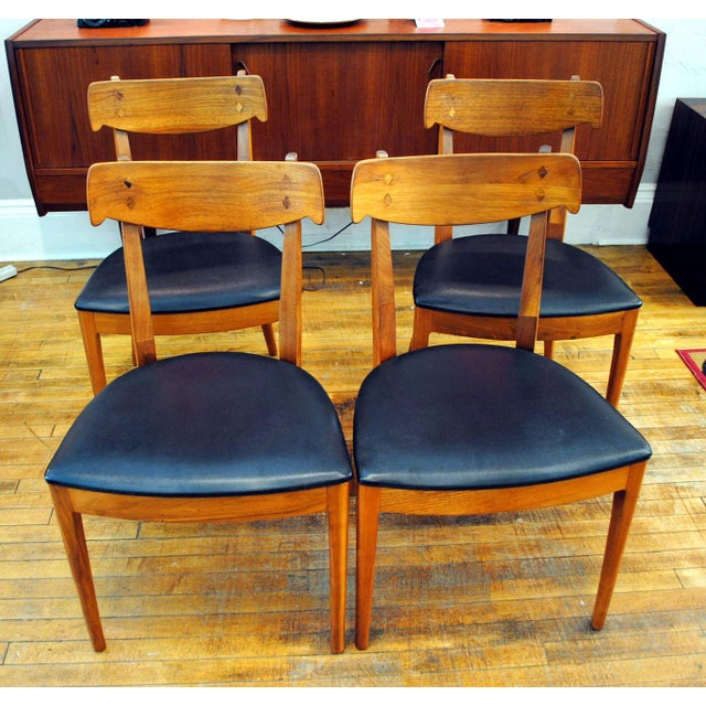 Mid-Century Modern Kipp Stewart for Drexel Declaration Mid-Century Dining Chairs - Set of 4 For Sale - Image 3 of 10