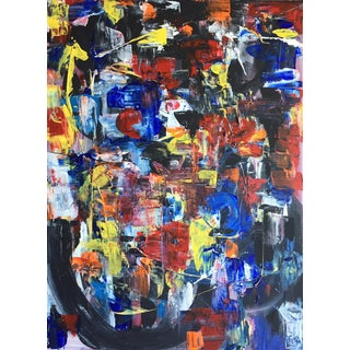 Abstract Acrylic on Canvas Painting For Sale