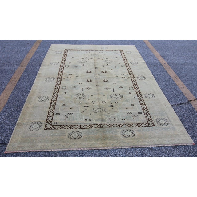 Tribal Anatolian Turkish Rug from Mid-20th C. with . It has weaved by Double Knotted technique which makes it quite...