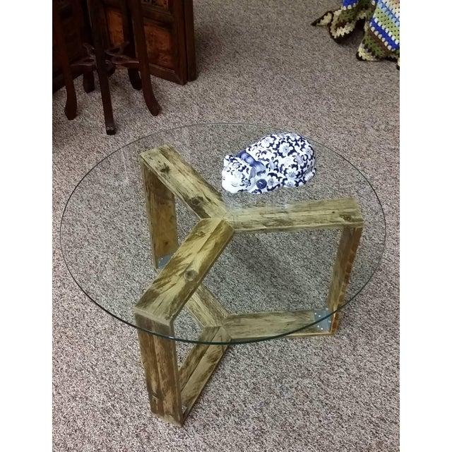 Custom Pallet Wood Side Table - Image 3 of 9