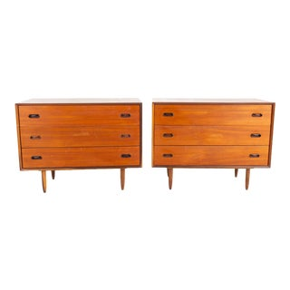 Mid Century Modern 3 Drawer Chests - a Pair For Sale