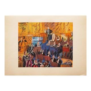 "1947 Raoul Dufy, Original Period ""L' Orchestre"" Lithograph Print For Sale"