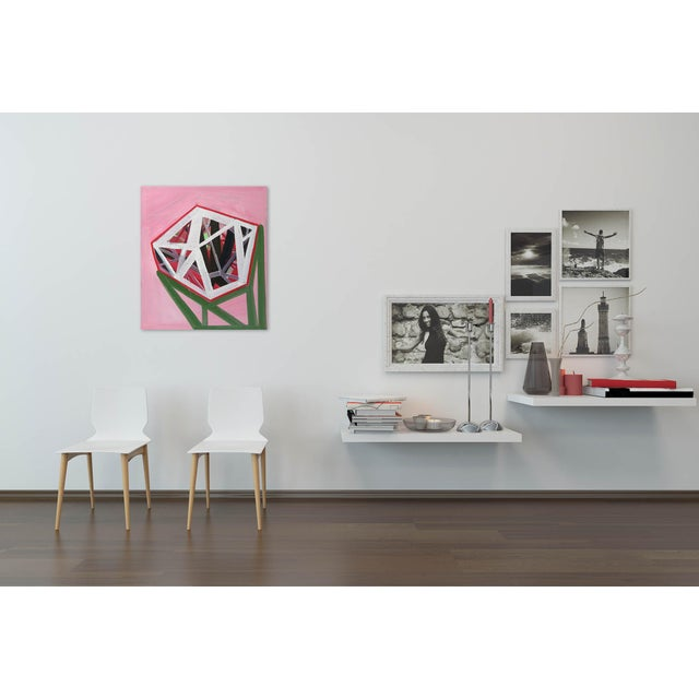 """Abstract Ashlynn Browning """"Pedestal"""", Painting For Sale - Image 3 of 4"""