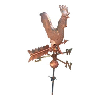 1970s Copper Rooster Weathervane For Sale