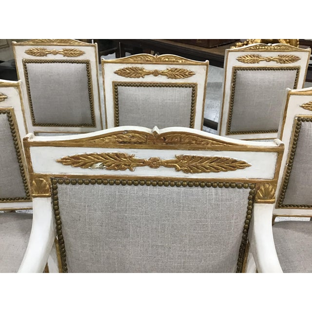 19th Century Set of 6 19th Century French Empire Chairs For Sale - Image 5 of 10