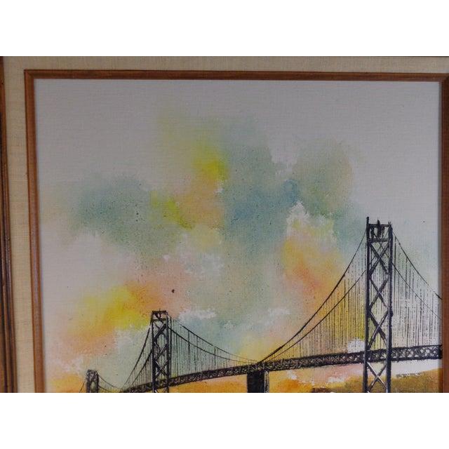 Impressionist Bay Bridge by Adriano Marchello For Sale In Savannah - Image 6 of 11