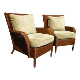 """Vintage """"Janus Et Cie"""" Floral Accent Chairs W Down Feather Back Cushions- a Pair For Sale"""